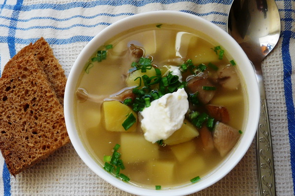 Суп из картофеля и грибов