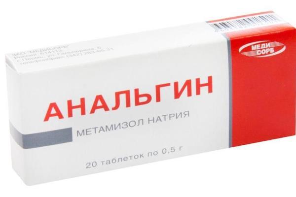 Упаковка таблеток Анальгин